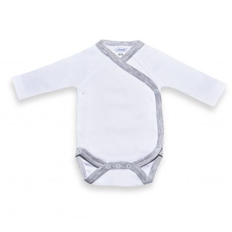 Romper unisex white /grey  Babyshower gift