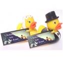 Rectangle label wedding ducks beach  (25 pieces)