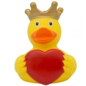Rubber duck with heart and crown LILALU