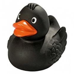 Gummi ente Ducky 7,5 cm DR Schwarz  Schwarz