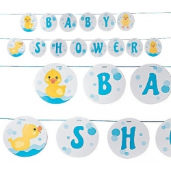 Rubber Ducky Baby Shower Garland (2 pieces)  Babyshower decoration