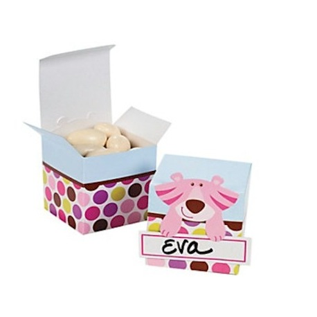 Box safari baby girl with name (per 12)  Packing