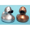 Rubberduck gold Merry Christmas & happy new year 8 cm B