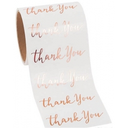 Rose Gold foile stickers thank you transparant  Stickers
