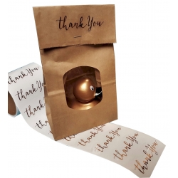DUCKYbag small Thank you Gold  Gold