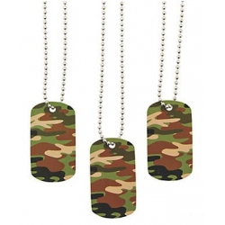 Dog tag /naamplaatje camouflage  Labels & pers. boodschap