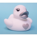 Rubber duck heart silver B