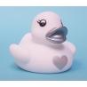 Rubber duck heart silver B