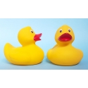Rubberduck yellow red beak 8 cm B