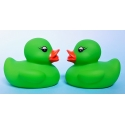Rubber duck mini lime green B