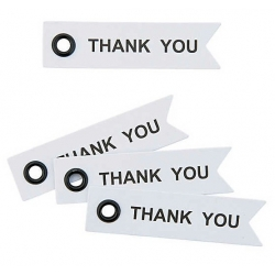 Label Thank You met oogje (per 40 stuks)  Labels