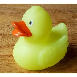 Gummi ente Ducky 7,5 cm DR glow in the dark  Übrige farben