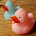 Rubber duck Ducky 7.5cm DR glow in the dark salmon pink