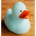 Badeend Ducky 7,5 cm DR glow in the dark blauw/groen