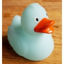 Rubber duck Ducky 7.5cm DR glow in the dark blue/green