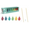 Set of 6 funfair ducks Coral reef with 2 fishing rods