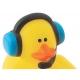 Rubber duck mini Gamer (per 4)  Mini ducks