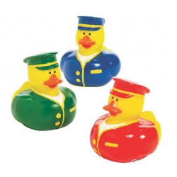 Rubber duck mini Train Conductor (per 3)  Mini ducks