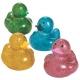 Badeend mini Glitter (per 4)  Mini eendjes