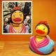 Frida Kahlo badeend LUXY  Luxy eendjes