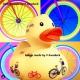 Gummie-ente DUTCH DUCKY Fahrad 8 cm B  Dutch Ducky