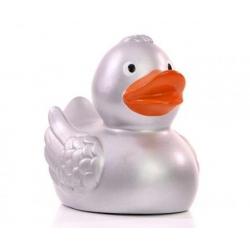 Badeend Ducky 7,5 cm zilver DR  Goud