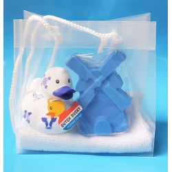 Badeend DUTCH DUCKY zeep kado Molen  Dutch Ducky