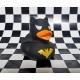 Gummi-ente Dark Duck Hero schwarz LILALU  Lilalu