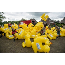 AUFKLEBER für Aufblasbare Super große Ente floating  Enten race