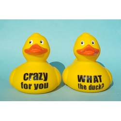 Duck with your own name/ text 12.5 CM  Duck with your Text