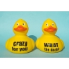 Duck with your own name/ text  12.5 CM