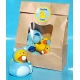 Rubber duck baby face blue B  Babyshower gift