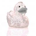 Badeend Ducky 7,5 cm DR glitter zilver