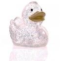 Gummi ente Ducky 7,5 cm DR glitzer gold