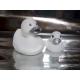 Rubber duck white silver B  Silver