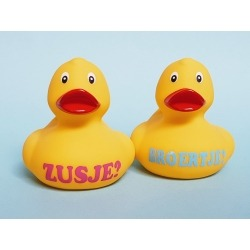 Broertje of Zusje Rubber duck  Duck with your Text