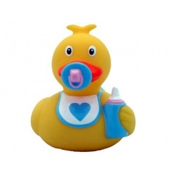 Rubber duck baby blue LILALU