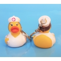 Keychain rubber duck Nurse