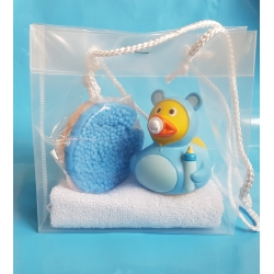 Rubber duck baby blue & soap gift  Babyshower gift