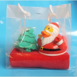 Rubber duck Santa & soap gift  Christmas
