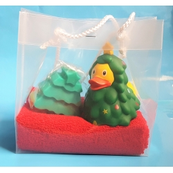 Rubber duck christmas tree & soap gift  Christmas