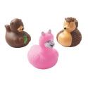 Rubber duck mini  cute animals  (per 3)