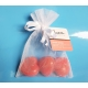 Heart soap set red (3 pieces)  Giftset