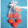 Heart soap set red (3 pieces)
