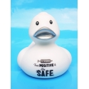 Corona duck Be STRONG think POSITIVE & stay SAFE white