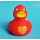 Rubberduck Al we need is love 8 cm B  Ducks with text