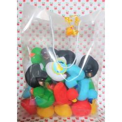 Duckybag tas van 36 gekleurde eendjes 8 cm  DUCKYbags