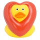 Rubber duck heart LILALU  Lilalu