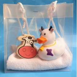 Rubber duck Cow & soap gift  Giftset