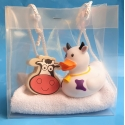 Rubber duck Cow & soap gift